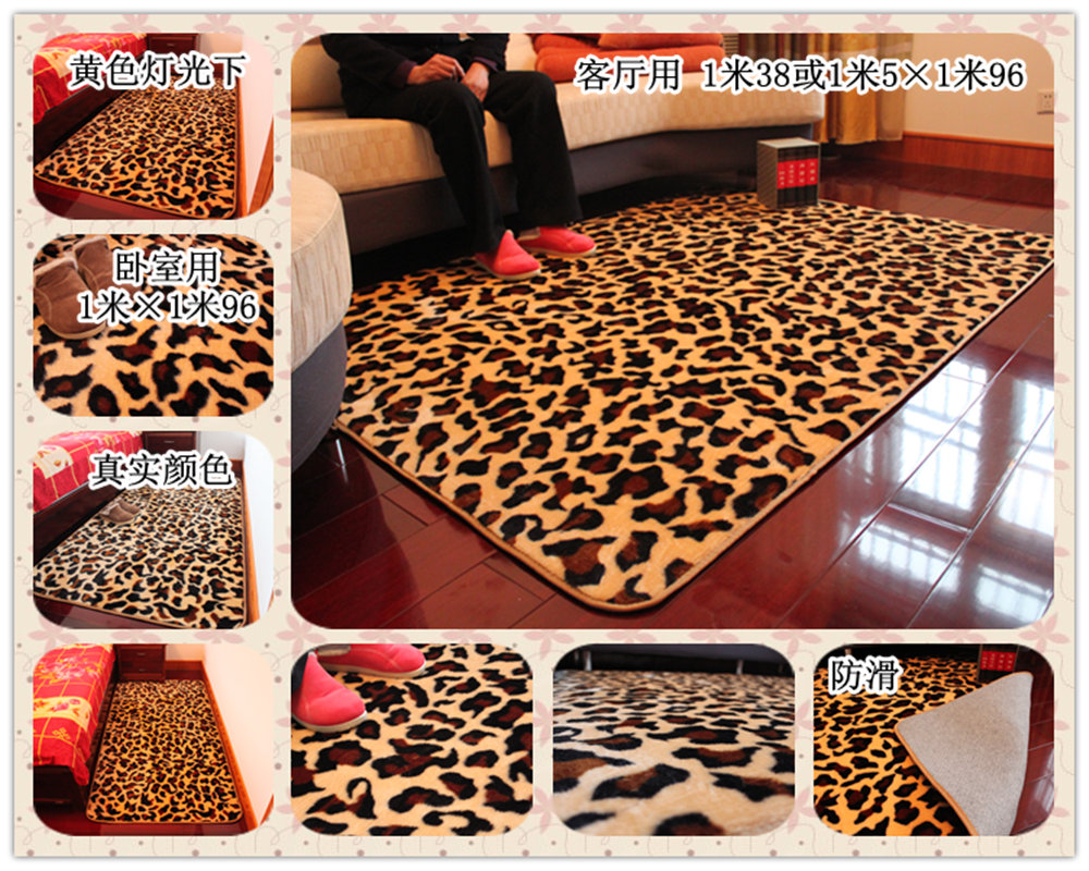 Moving cartoon carpet bathroom slip-resistant mats MICKEY leopard print(China (Mainland))