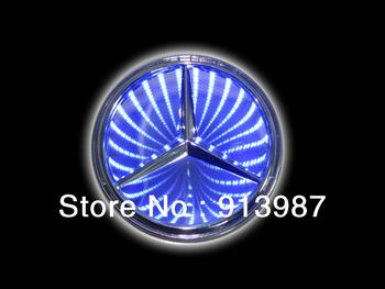 NEW 3D RED/ BLUE/ WHITE LED Car Decal Logo Light Badge Lamp Emblem Sticker for MERCEDES BENZ S350  S300L