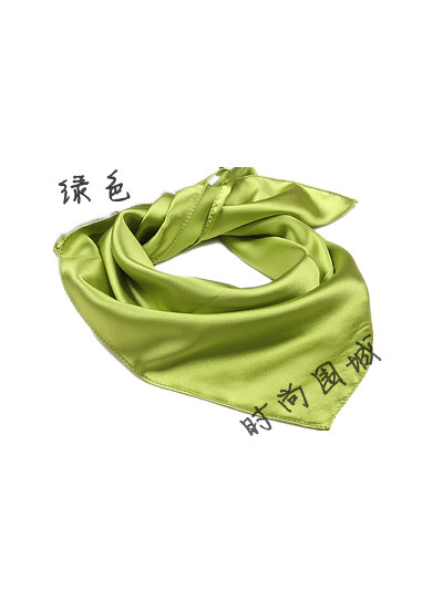 Solid color silk scarf plain scarf spring and autumn small facecloth silk scarf small green facecloth(China (Mainland))