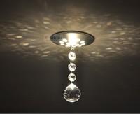 Sales promotion!! K9 ball crystal aisle lights corridor lights hallway lights background wall spotlights b6007