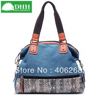 free shipping  DHH  New Arrival 2013 fashion  canvas bag  retro patchwork color ladies' handbag shoulder bag sling bag