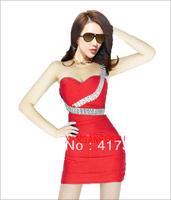 2013 fashion tube top slim sexy hip slim tank dress one-piece dress free shipping