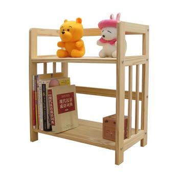 Child bookshelf solid wood bookcase ofhead shelf storage rack simple toy shelf