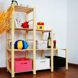 Wood shelves bookcase easy furniture DIY Furniture set storage rack set wood shelves bookcase shelf storage rack