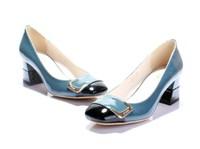 2013 women shoes spring and autumn Women single shoes color block fashion shoes ol women's shoes