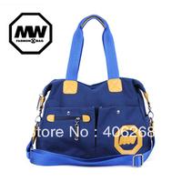 free shipping 2013 casual  canvas bag  fashion  rivet  women's handbag shoulder bag sling bag