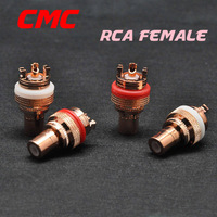 A group of four CMC RCA femaleplated red copper Audio Accessories