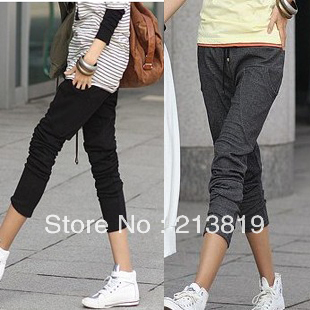 2012 new Korean female models were thin trousers, harem pants, the 318 casual models little feet