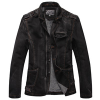 M-L-XL-XXL HOT!2012 Men's Fashion Designer mens casual denim coat Jean Jackets Streetwear winter outwear warm coat