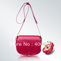 free shipping 2013 small  fashion candy color cute pu leather ladies' shoulder bag sling bag