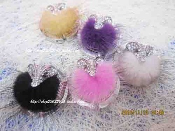 Wholesale Fox Fur Wool Pattern Fashion Bag Hook Holder Hanger Wedding Gift
