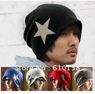 Best Quality Hip-Hop Knitted Long Beanie women men hat winter cap / Acrylic Ski Warm Hat Skull Cap 10pcs/lot Multi Color(China (Mainland))