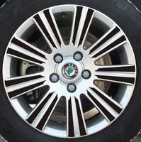 skoda Octavia Special wheel carbon fiber sticker label