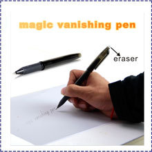 Free Shipping 10pcs/lot Novel Magic Auto Vanishing Disappearing Ink Pen Invisible Ink Sign Pen Stationery - Black(China (Mainland))
