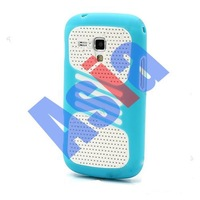 2013 new 2 in 1 Hybrid Mesh Pc+Silicon combo Case for Samsung Galaxy S Duos S7562. FREE SHIIIPING