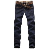 2012 Men plus velvet denim skinny pants thick straight male ,Free shipping