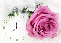 Beautiful frameless painting wall clock single decorative painting mute clock mural clock rose/Clock with Flower Painting/01