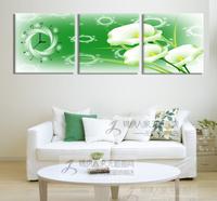 Beautiful frameless painting wall clock modern decorative painting the living room wall paintings mural digitate mute