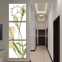 Frameless painting wall clock modern decorative painting paintings mural trippings home accessories florid