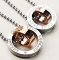 Wholesale fashion 316L Titanium steel new beautiful LOVER sets pendant necklace 18inch Super price !Free Shipping TG3946