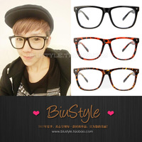 Biu style . fashion vintage meters limited big box plate plain glass spectacles frame glasses myopia eyeglasses frame