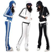 Brand Leisure 2013 spring sweatshirt casual wear fashion slim sports set female