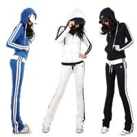 2013 sports set female casual sweatshirt set slim set