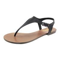 free shipping Fashion brief zandall flat splint genuine leather flat heel flip-flop female sandals