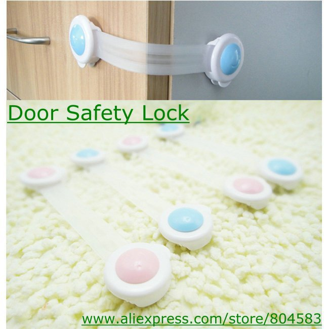 (20pcs/lot)Free shipping door safety locks drawer locks security lock baby care products hotsale(China (Mainland))