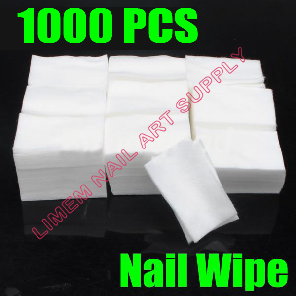 Free Shipping 1000 Pcs Nail Art Care Wipe Polish Acrylic UV Gel Tips Cotton Remover Cleaner(China (Mainland))