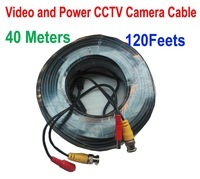 100% brand new cctv camera  132 Feets or 40 meters surveillance BNC plug cable