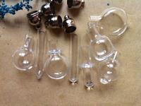 Free ship! 300pieces mixed glass Vial Pendant 5mm (metal cap /mini/glass/charm/ rice/ bottle/miniature/vials)
