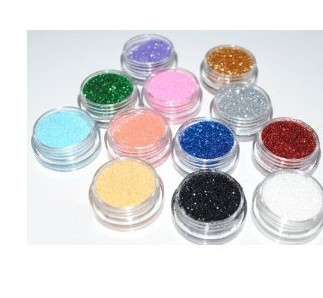 12 Colours Nail Art Tips Glitter Dust Acrylic Powder