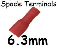 1000 PCS X RED Insulated Female Spade Connector Terminals 6.3mm