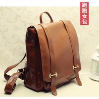 Vintage fashion travel backpack laptop bag fashion female bags fashion backpack preppy style leather school bag