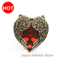 Min Order $10 Designer Jewelry,Retro Red Angel Wings Hearts Rings,Replica Championship Rings,Wedding Rings J22114