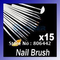 15 pcs professinal Nail Art Brush Set Design Painting Pen,Perfect for natural/false and 3D Beauty
