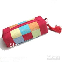 Lucky Cosmetic Case Bags Makeup Bag Fashion Silk Fabric Tassel Colorful Cosmetic Bag 10pcs mix Free