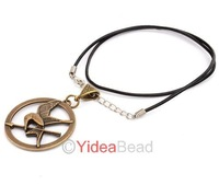 Hot Sale Vintage Jewelry 24pcs Antique The Hunger Games Logo Pendant Necklace 261081