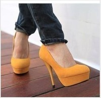 Wholesale Free shipping women pumps High-heeled shoes princess platform 4colors newest fashion