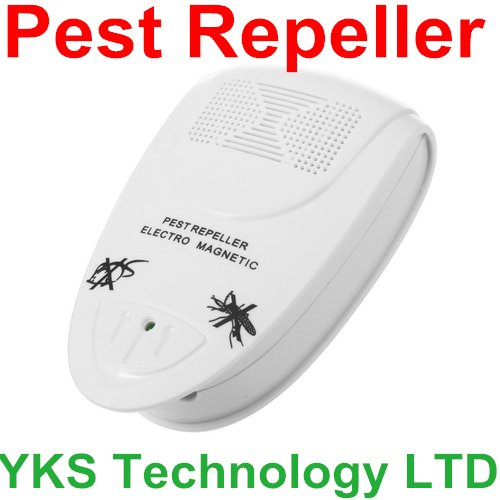 High Quality White Electro Magnetic Ultrasonic Electronic Pest Repeller for lustrating Mouse Bug Mosquito Insect Brand New(China (Mainland))