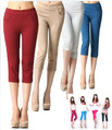 Free shipping 2013 women's summer slim candy color capris skinny legging pants pencil pants