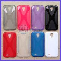 For Samsung Galaxy S4 i9500 X line TPU Gel Back Cover Skin Case