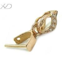 XD K020D 18K rose gold pendant clip clasps wholesale pendant clasp pendant pinch clip bail