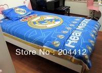 Real Madrid FC Soccer 3-Piece bedclothes Single Bedding Pillow Case Duvet Cover Bed Sheet