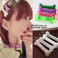 On Sale Free Shipping 2013 Newest  Dog Bone Hair Clips Harajuku Barrettes Jewelry 18colours