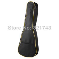 "24"" Soprano Ukulele Gig Bag Soft Case Light Gear Black Uke Ukelele, Color: Yellow"