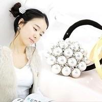 B006 accessories hair accessory brief mantianxing pearl  headband hair rope hair accessory