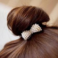 B002 hair accessory hair accessory elegant sweet pearl elastic