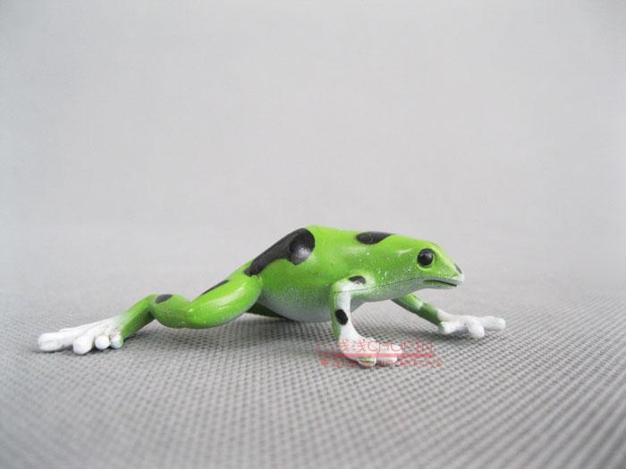 Safari ! solid animal model toy green poison frog(China (Mainland))